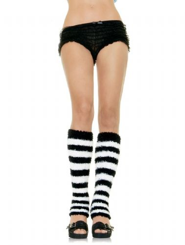 Leg Warmers - Fuzzy Stripes (Leg Avenue 5587)